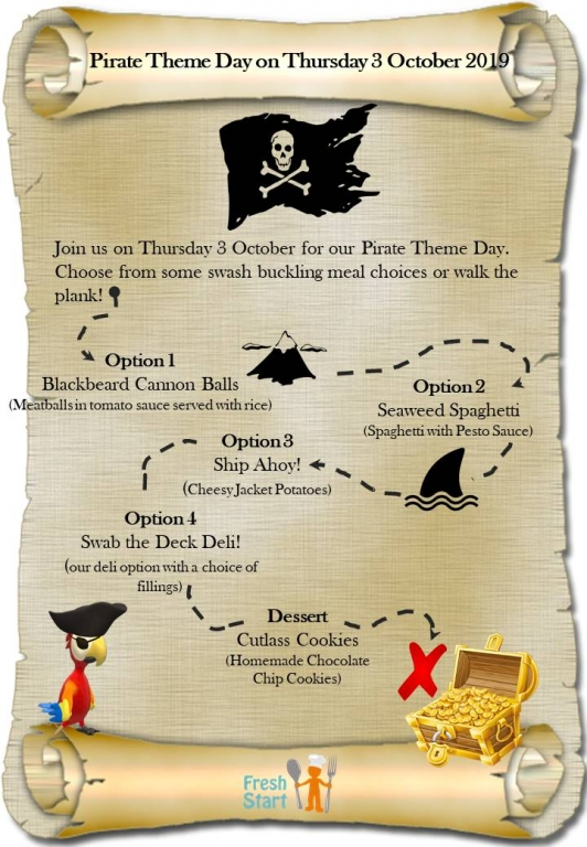 Pirate Theme Day 3 October 2019 Poster